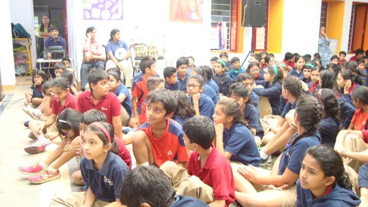 Bonjour India Inter School festival presentation