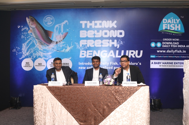 L-R - Mathew Cyriac, CEO & Managing Partner Florintree Advisors - Alex K Babu, Chief Investment Officer, Baby Marine Ventures - Alex K Thomas, MD, Daily Fish
