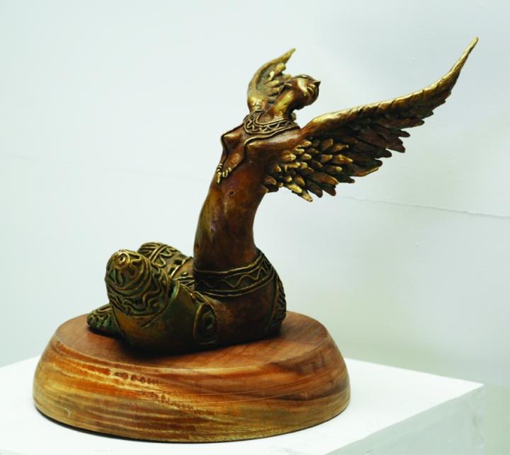 Metal sculptures by Subrata Karmakar