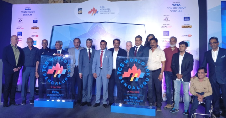 TCS World 10K Bengaluru 2018 Launch PC pic