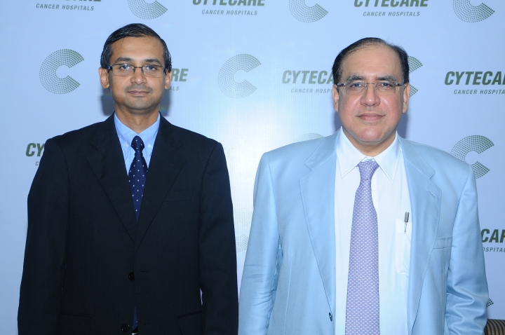 From L to R - Suresh Ramu, Co-Founder & CEO, Dr. Ferzaan Engineer, Co-Founder & Chairman, Cytecare Cancer Hospital