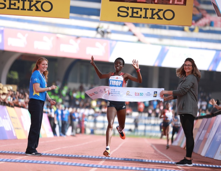 TCS World 10K Bengaluru 2018 women's winner Agnes Tirop