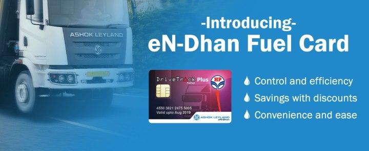 Ashok Leyland eN- Dhan fuel card