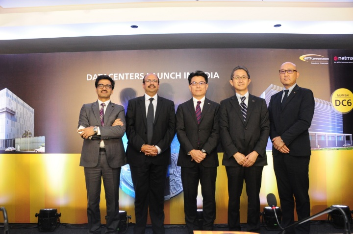 L to R- Mr Sunil Gupta, Mr Sharad Sanghi, Mr Takanobu Maeda, Mr Kenichiro Lida, Mr Masakazu Kobayashi_