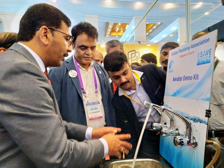 Dy. C M Dr. C N Ashwath Narayan visiting the exhibtion area of the 26th Indian Plumbing Conference
